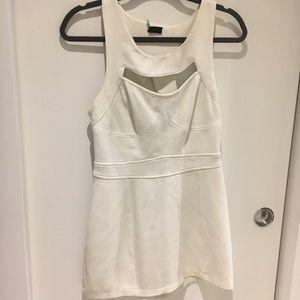 Creme, Cut-out, Mini Dress