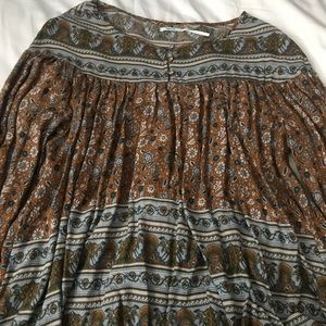 Urban Outfitters Long Sleeve Patterned Blouse