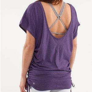 Lululemon Power Class Cinched Tee Concord Grape!