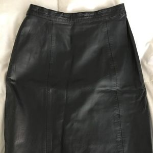 Lined Black  BB Dakota Leather skirt