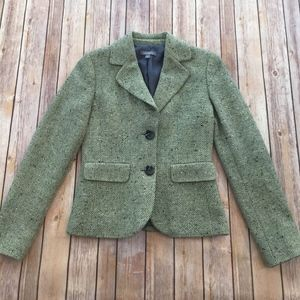 Tweed Double Button Blazer