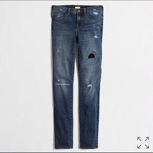 EUC - JCrew distressed skinny jeans