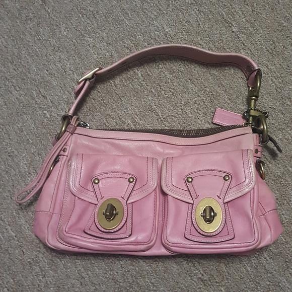 Coach Handbags - COACH Legacy Pink Vachetta Leather Purse e971b0d15731e