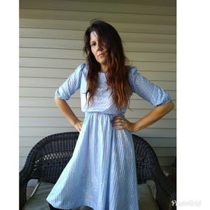 80s splatter print dress