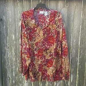 White Stag Floral Blouse