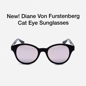 New! Diane Von Furstenberg Cat Eye Sunglasses