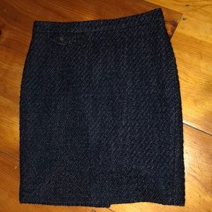 J.Crew Marled Wool Pencil Skirt. Navy. Size 4