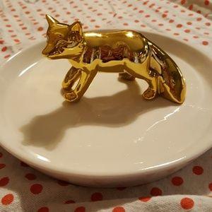 Fox Jewelry Catch All Dish