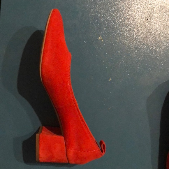 4b83aa2f7221 Other Stories Shoes - Red Suede Block Heels