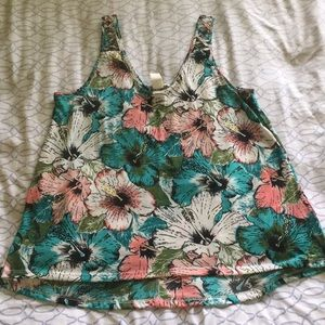 Tops - tropical floral print tank top