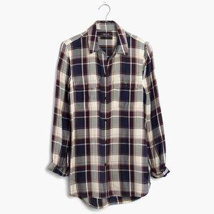 Madewell classic ex-boyfriend shirt in hanna plaid