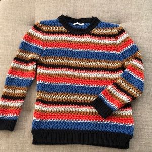 zara multicolor striped sweater