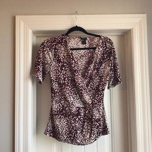 Ann taylor maroon blouse. Size M