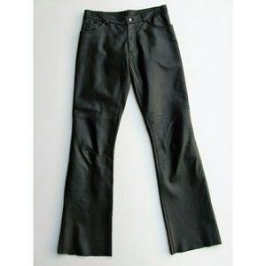 Bebe Split Hem Black Leather Moto Pants 6 - Mint!