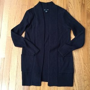 H&M Black Cardigan with Pockets