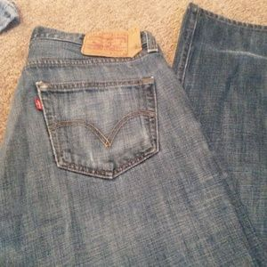 Levi's 505 button fly jeans 34x34