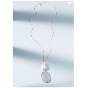 Anthropologie Glistening Pearl Pendant Necklace
