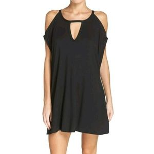 ROBIN PICCONE Cold Shoulder Cover-Up dress top M