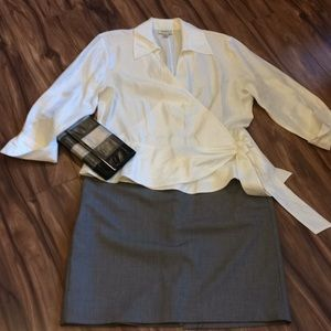 Coldwater Creek winter white blouse