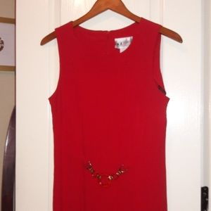 SL Fashions Dresses - Red belted dress👗 SL Fashions