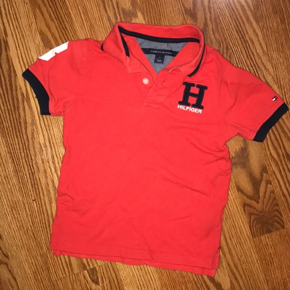 nice shoes meet size 7 Tommy Hilfiger Boys Red H Polo