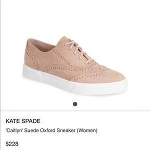 Kate Spade Caitlyn Suede Oxford Sneakers