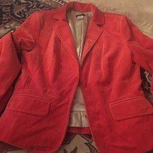 EUC J. Crew Velvet Jacket Size 8. Light Red Color