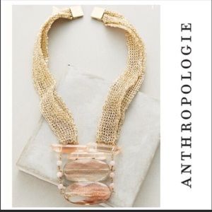 Short Gold Anthropologie Jewelry Necklaces