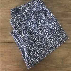 Old Navy Plus Size Pixie Blue Mini Flower Pants