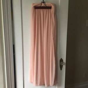 Pins and Needles Light Pink Chiffon Maxi Skirt
