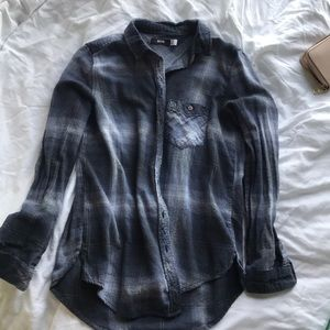 Urban outfitters blue long sleeve flannel NWOT