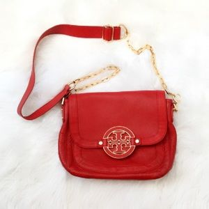 Tory Burch Amanda Pebbled Leather Bag