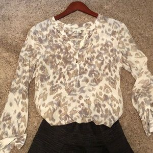 Ann Taylor Abstract Blouse, Size Small