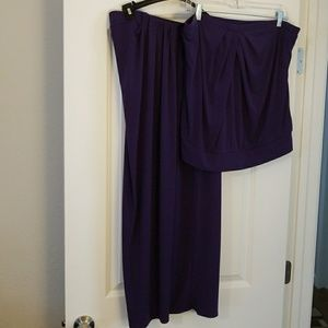 Purple skirt set! Great for beach vacation!