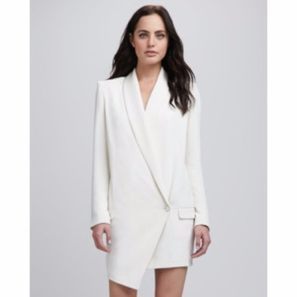 df2df75f43d7bd Haute Hippie Dresses | Ivory Oversized Asymmetrical Blazer | Poshmark