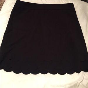 Black, above the knee skirt