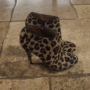 Aldo leopard print booties