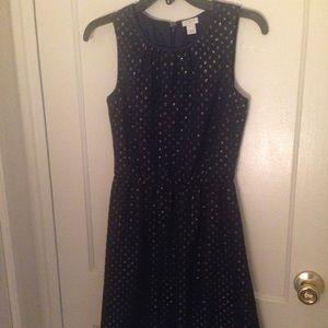 JCrew Metallic Dot Dress