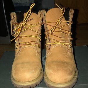 Timberland 6in double collar WHEAT boot
