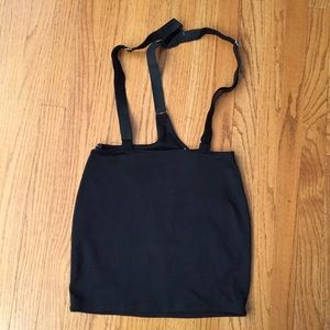 Black Skirt with Suspenders Attached