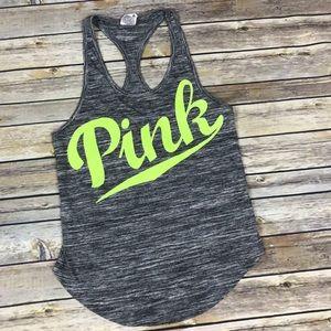Victoria's Secret PINK Grey Racerback Tank Top