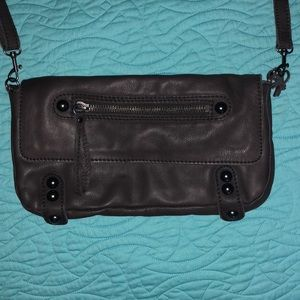 Linea Pelle brown crossbody and clutch