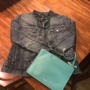 Gap pre-destroyed denim jacket size small