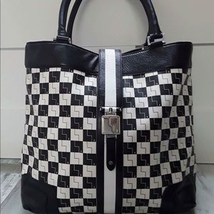 L.A.M.B. Checkered tote bag