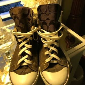 Authentic Coach Classic logo high top sneakers