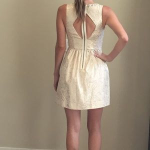 Gold and Cream cocktail dress
