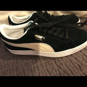 Black Suede Puma Sneakers