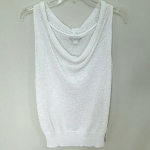 New York & Company White sleevless knit top