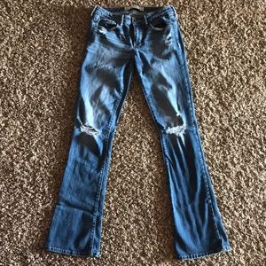 Abercrombie & Fitch Destroyed Bootcut Jeans