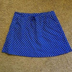 J.Crew Factory Blue Polka Dot Skirt
